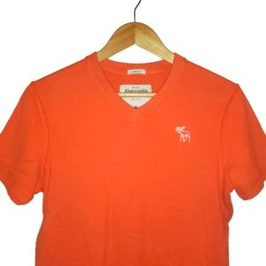 4/$25 A&F Muscle Fit VNeck T Shirt Orange M